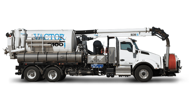 Sewer Wastewater Vactor 2100i fan sewer cleaner