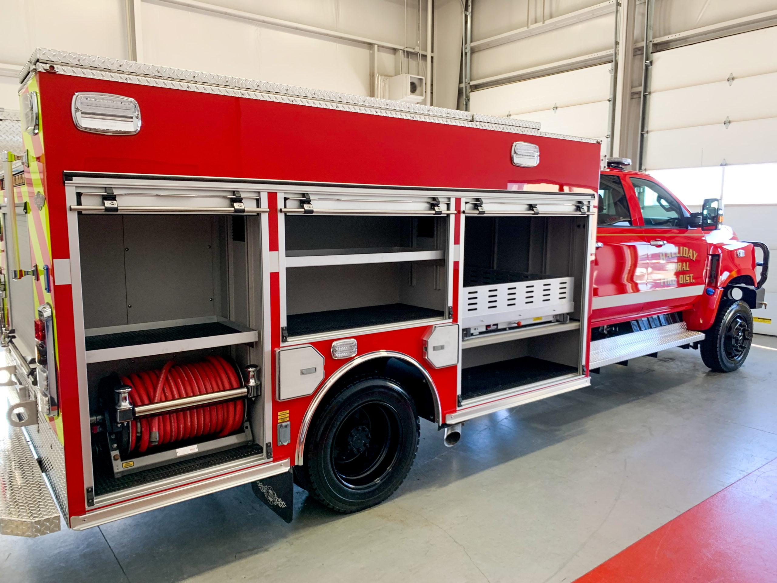 Halliday Rural Fire Department – E.J. Metals Brush Truck