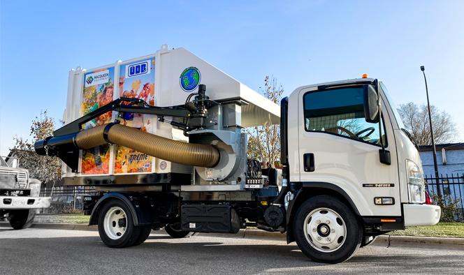 Leaf Collection ODB Truck Mounted Leaf Vac