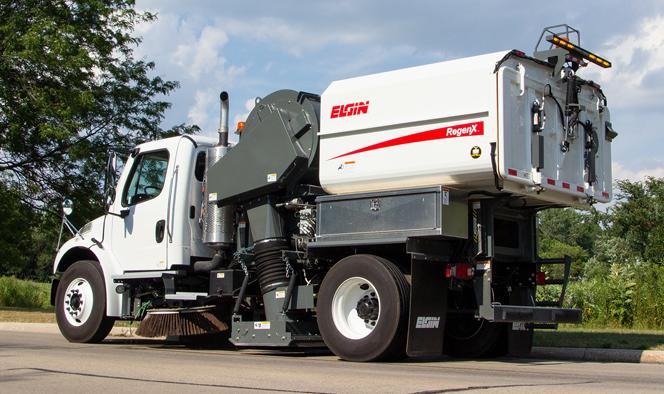 Street Maintenance Elgin RegenX Regerative Air Sweeper