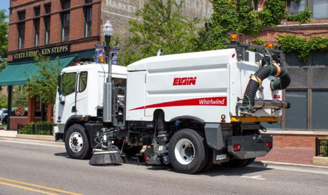 Street Maintenance Elgin Whirlwind Vacuum Sweeper